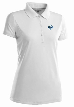 Tampa Bay Rays Womens Pique Xtra Lite Polo Shirt (Color: White)