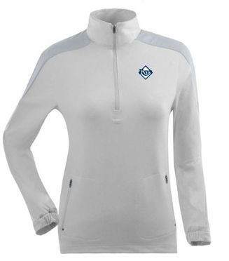 Tampa Bay Rays Womens Succeed 1/4 Zip Performance Pullover (Color: White)