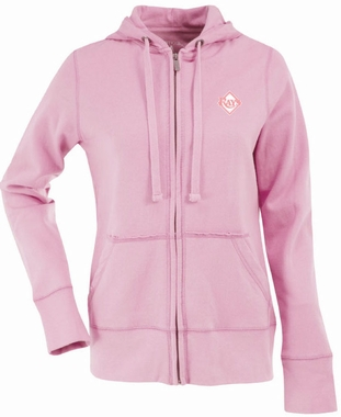 Tampa Bay Rays Womens Zip Front Hoody Sweatshirt (Color: Pink)