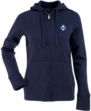 Tampa Bay Rays Womens Zip Front Hoody Sweatshirt (Team Color: Navy)