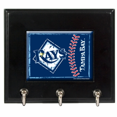 Tampa Bay Rays Wooden Keyhook Rack