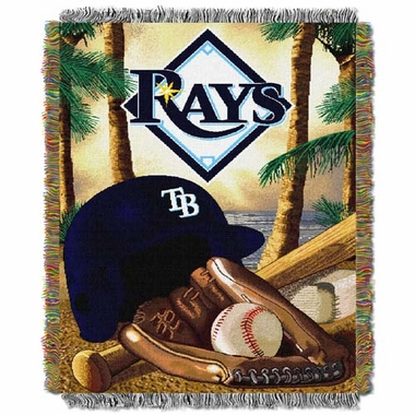 Tampa Bay Rays Woven Tapestry Blanket