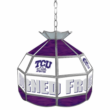 TCU 16 Inch Diameter Stained Glass Pub Light
