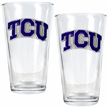 TCU 2 Piece Pint Glass Set