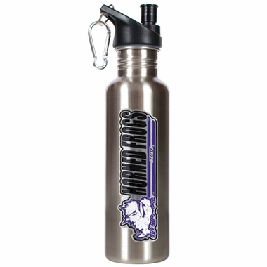 TCU 26oz Stainless Steel Water Bottle (Silver)