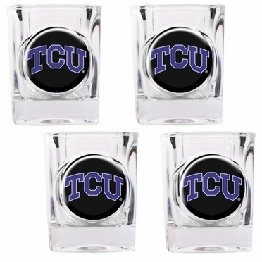 TCU 4 Piece Shot Glass Set