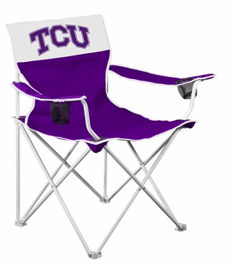 TCU Big Boy Adult Folding Logo Chair