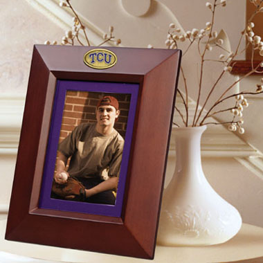 TCU BROWN Portrait Picture Frame