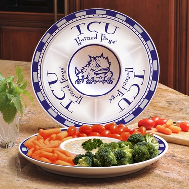 TCU Ceramic Chip and Dip Plate