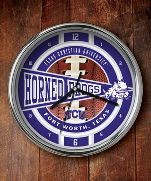 TCU Chrome Clock