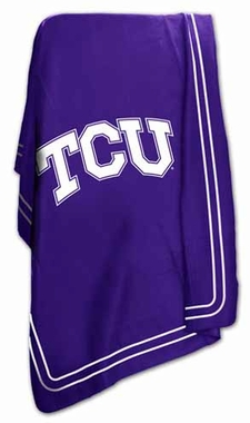 TCU Classic Fleece Throw Blanket