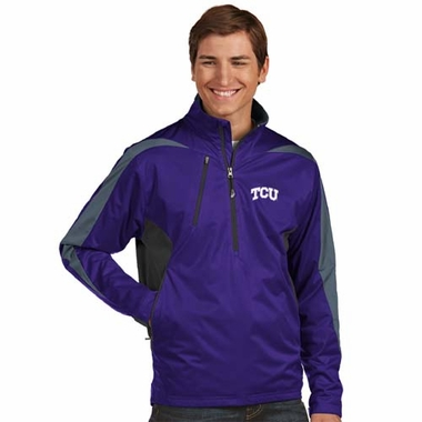 TCU Mens Discover 1/4 Zip Pullover (Color: Purple)