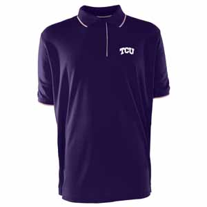 TCU Mens Elite Polo Shirt (Team Color: Purple) - Medium