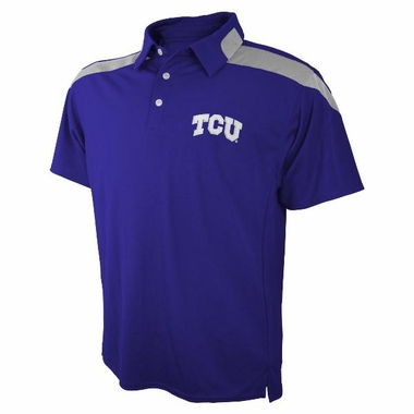 TCU Embroidered Logo Polyester Polo Shirt
