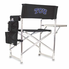 TCU Embroidered Sports Chair (Black)