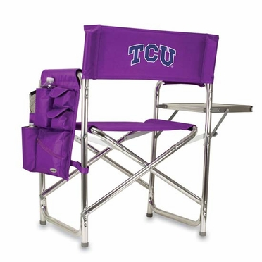 TCU Embroidered Sports Chair (Purple)