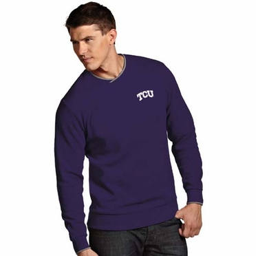 TCU Mens Executive Crew Sweater (Team Color: Purple)