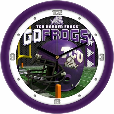 TCU Helmet Wall Clock