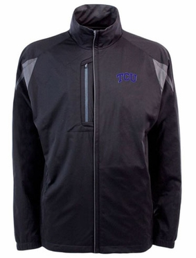 TCU Mens Highland Water Resistant Jacket (Team Color: Black)