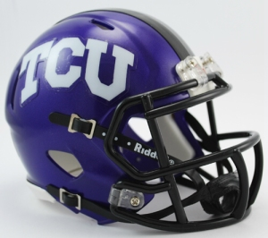 TCU Mini Replica Helmet