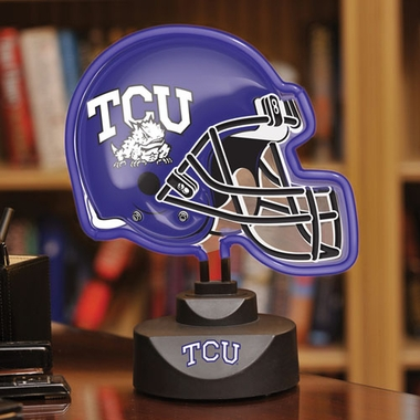 TCU Neon Display Helmet
