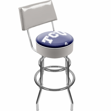 TCU Padded Bar Stool with Back