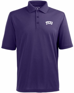 TCU Mens Pique Xtra Lite Polo Shirt (Team Color: Purple)