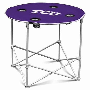 TCU Round Tailgate Table