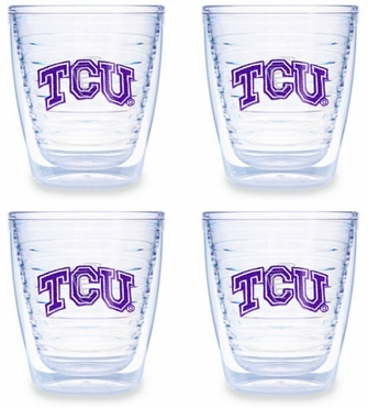 TCU Set of FOUR 12 oz. Tervis Tumblers