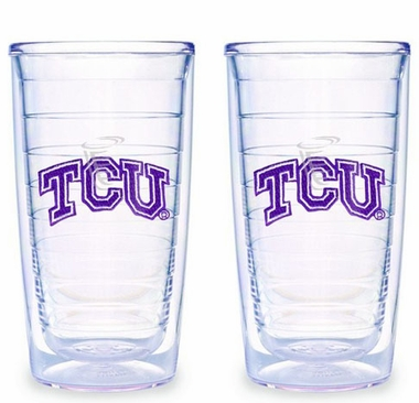 TCU Set of TWO 16 oz. Tervis Tumblers