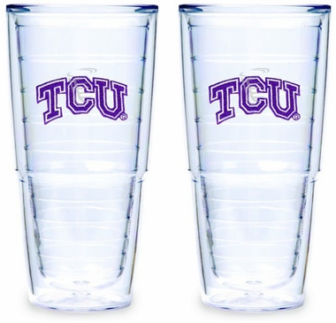 TCU Set of TWO 24 oz. Tervis Tumblers