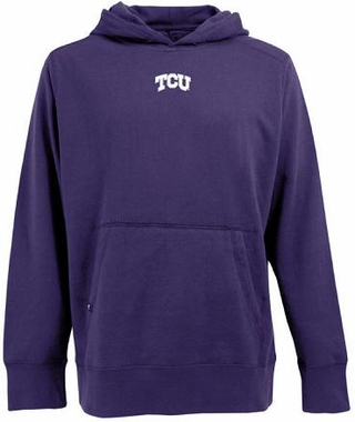 TCU Mens Signature Hooded Sweatshirt (Team Color: Purple)