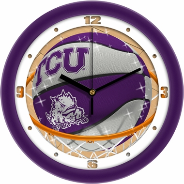 TCU Slam Dunk Wall Clock