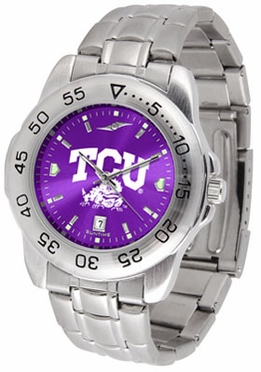 TCU Sport Anonized Men's Steel Band Watch