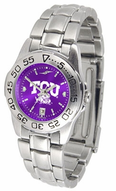 TCU Sport Anonized Women's Steel Band Watch