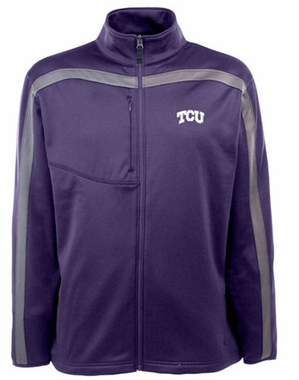 TCU Mens Viper Full Zip Performance Jacket (Team Color: Purple)