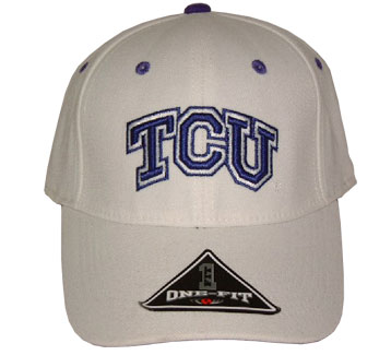 TCU White Premium FlexFit Hat