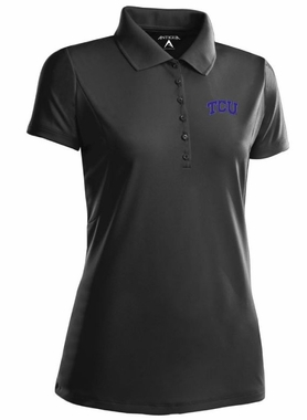 TCU Womens Pique Xtra Lite Polo Shirt (Team Color: Black)