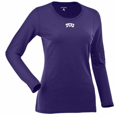 TCU Womens Relax Long Sleeve Tee (Team Color: Purple)