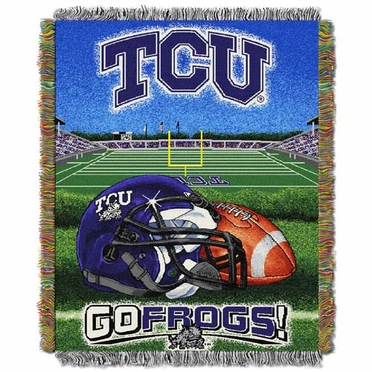 TCU Woven Tapestry Throw Blanket