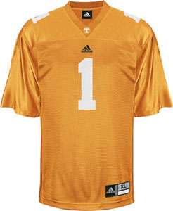 Tennessee #1 Adidas Replica Football Jersey (Orange) - Large