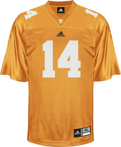 Tennessee #14 Adidas Replica Football Jersey (Orange) - Large