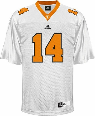 Tennessee #14 Adidas Replica Football Jersey (White)