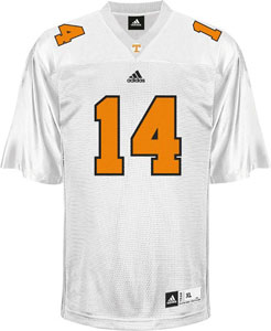 Tennessee #14 Adidas Replica Football Jersey (White) - Medium