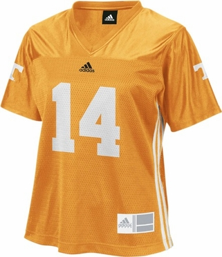Tennessee #14 Adidas Women's Replica Football Jersey (Orange)