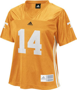 Tennessee #14 Adidas Women's Replica Football Jersey (Orange) - Medium