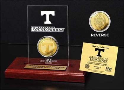 Tennessee Volunteers University of Tennessee 24KT Gold Coin Etched Acrylic