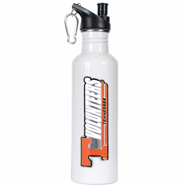 Tennessee 26oz Stainless Steel Water Bottle (White)