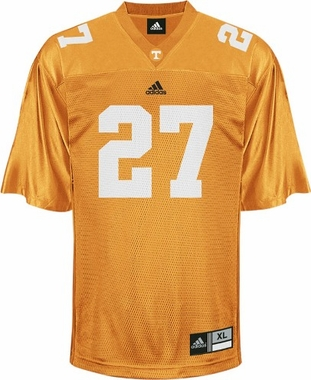 Tennessee #27 Adidas Replica Football Jersey (Orange)