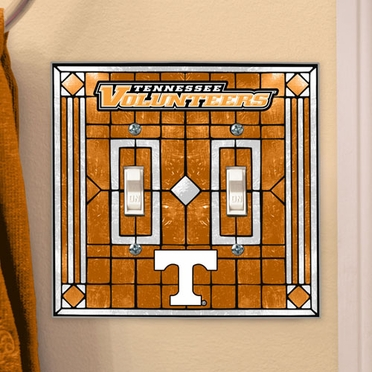 Tennessee Art Glass Lightswitch Cover (Double)